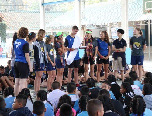 นักเรียนชั้น ป.4-6 เรียนร่วมกับนักเรียนโรงเรียนนานาชาติ Grace International School 15 ก.พ. 62
