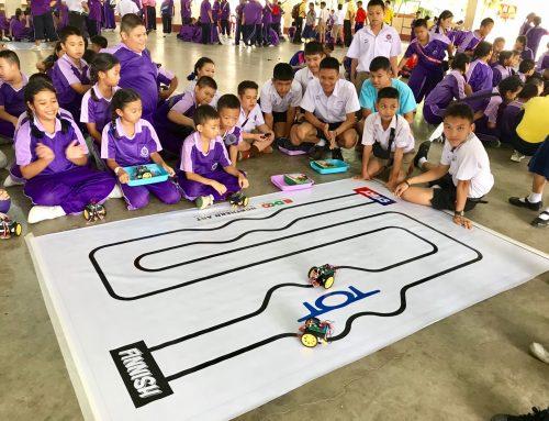 """การอบรมปฏิบัติการประกอบหุ่นยนต์ """"Smart Kids Code"""" @Weruwan by TOT"""