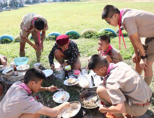 บททดสอบการทำอาหารยังชีพของ ลูกเสือ-เนตรนารีสามัญรุ่นใหญ่ ก่อนการเข้าค่ายพักแรม ประจำปี 2562